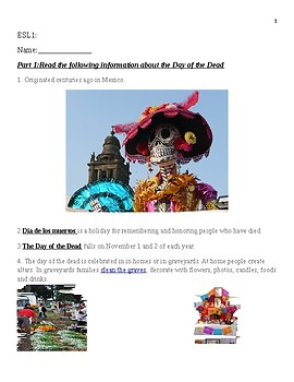 Halloween and the Day of the Dead ELL Level 1
