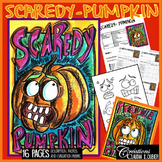 Halloween Art Project: Scaredy-Pumpkin Art Lesson Plan
