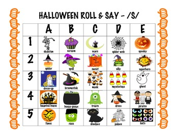 Halloween articulation dice game