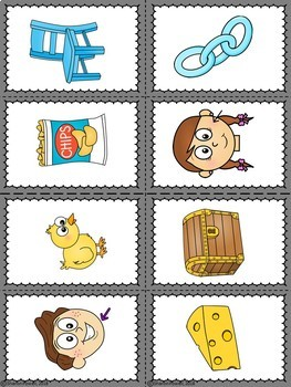 Halloween Speech Therapy Games for ch words