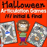 Halloween Speech Therapy Games for f words