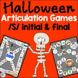 Halloween Speech Therapy Activities for s words