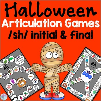 Halloween Speech Therapy Activities for sh words