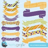 Halloween banners clipart commercial use, vector graphics - CL570