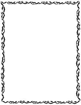 Halloween bat border printable