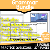 Distance Learning Google Forms Grammar Review | 3rd, 4th Grade Summer Packet