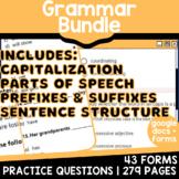 3rd & 4th Grade ELA Test Prep Grammar Practice Review {Bundle} (Digital)