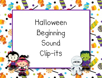 Halloween beginning sounds clip-it
