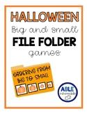 Halloween big and small sort