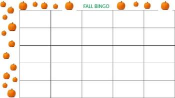 Halloween bingo with vocabulary list