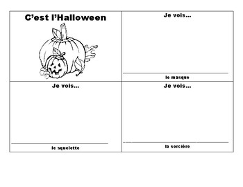 Halloween booklet (french)