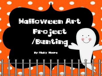 Halloween bunting/art project