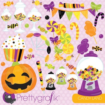 Halloween candy clipart commercial use, vector graphics, d