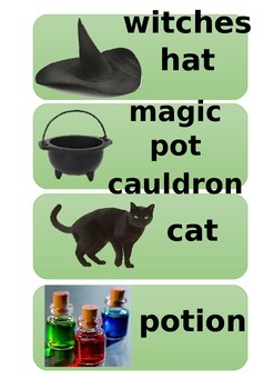 Halloween/castle/potion/magic vocab