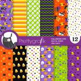 Halloween cats papers, commercial use, scrapbook papers, patterns - PS888