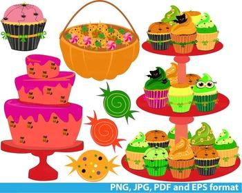 Halloween clip art EPS PNG school teachers Cake muffins sweets wedding food -136