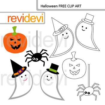 Halloween clip art FREE by revidevi | Teachers Pay Teachers