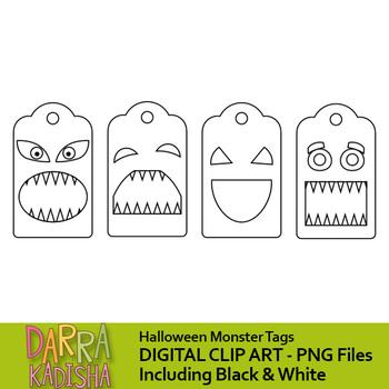 Halloween clip art - Monster tags