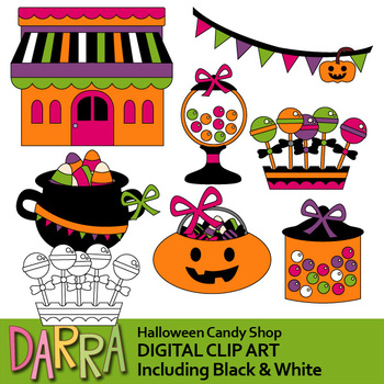 Halloween clip art / candy shop clipart
