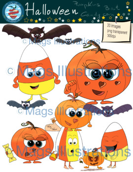 Clipart Happy Halloween, clip art bat, pumpkin, candy corn fun stuff