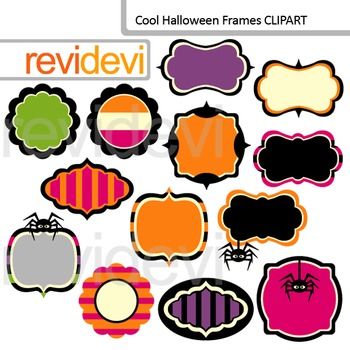 Halloween clip art graphics - Frames/ Label - Commercial use clipart