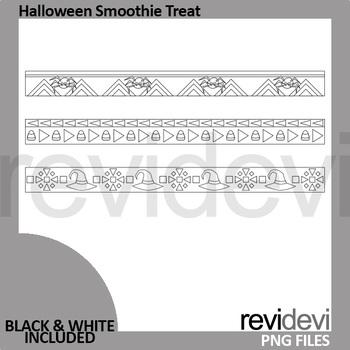 Halloween clip art long ribbons