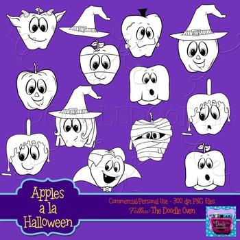 Halloween clipart (Apples)