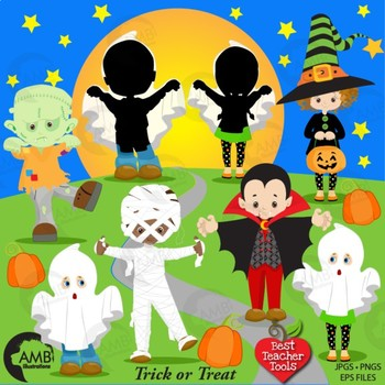 Halloween clipart, Halloween Costume Clipart, Vampire, Witches Ghosts AMB-2260