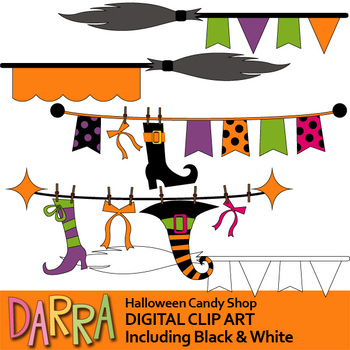 Halloween clipart (bunting banners)