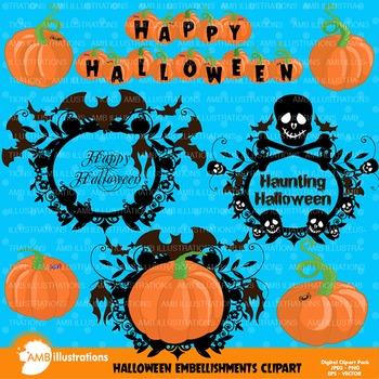 Halloween clipart, pumpkin clipart, Halloween, AMB-996