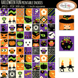 Halloween inchies collage sheet, 1 inch squares