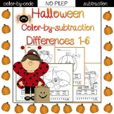 Halloween color by code {subtraction}