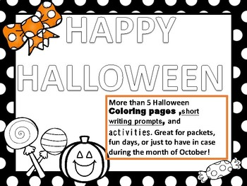 Halloween coloring and packet ideas