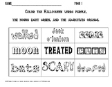 Halloween coloring and writing freebie!