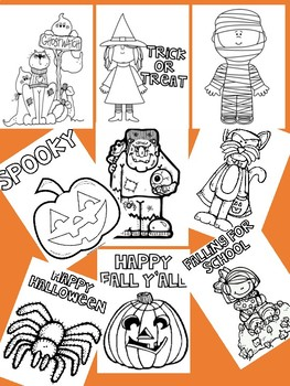 Halloween coloring pages-sheets (melon head Kids) Halloween activities