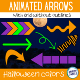 Halloween colors animated arrow GIFs for digital resources