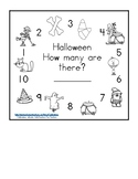 Halloween counting Books