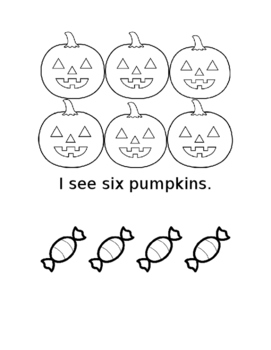 Halloween counting book 1-14