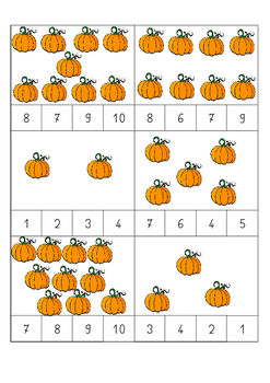 Halloween counting card - cartes à compter thème Halloween 1-10