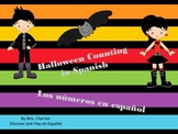 Halloween counting in Spanish- Math Game in Spanish-