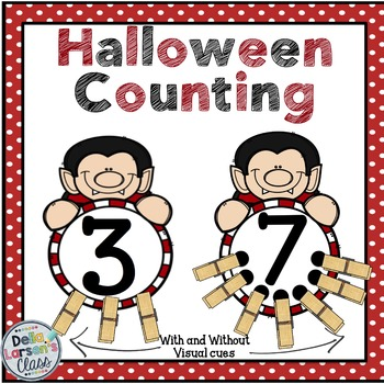 Halloween counting with clothespins