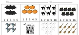 Halloween counting worksheet