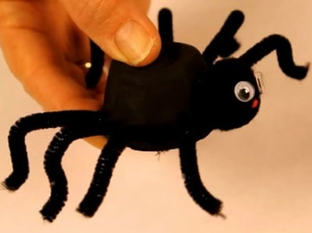 Halloween craft - Hairy Head spider