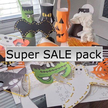 Halloween crafts activities SUPER SALE activity pack FREE coloring pages