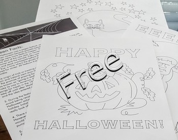 Halloween crafts activities masks FREE fact sheet coloring pages