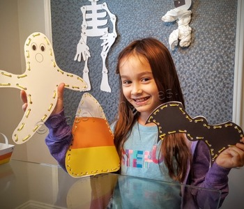 Halloween crafts activities printable weaves and FREE fact