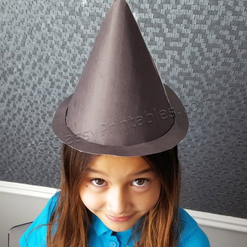 Halloween crafts activities witch's hat and FREE fact sheet coloring pages