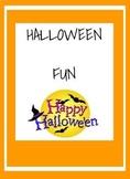 Halloween crossword and word scramble