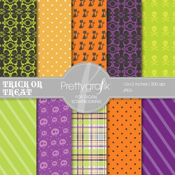 Halloween digital paper, commercial use, scrapbook papers, background - PS551