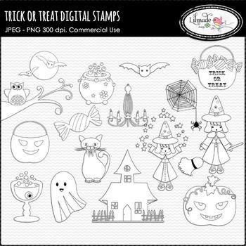 Halloween digital stamps